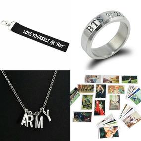 Chaveiro Bts Kpop Love Yourself + Anel + 40 Photocards+colar