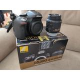 Remato Nikon D5300 24mpx Wifi Gps Lente 18-55 Excelente Esta