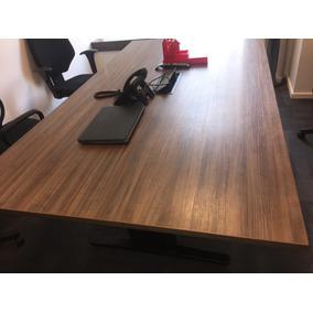 Mesa Para Sala De Reunião Marrom (6 Cadeiras 1,60 X 1,20)