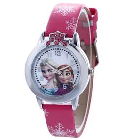 Esgotado!relógio De Pulso Feminino Infantil- Princesa Frozen