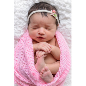 6 Wrap Grande Enrolar Bebe + 6 Touca Tricô Foto Newborn Prop 5aabb5d5966