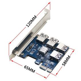 Adaptador Multiplicador Riser Card Pcie Rig Mineração Eth