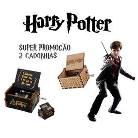 Caixinha De Musica Harry Potter, Madeira E Manivela, Hp