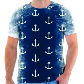 Camisa Camiseta Masculina Estampa Ancora Moda Sailor. São Paulo · Camiseta  Camisa Blusa Ancora Mod 01 d280745f8d0