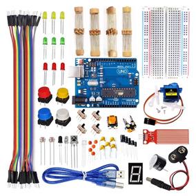 Kit Arduino Uno R3 Iniciante + Sensores + Servo + Maleta