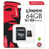 Memoria Micro Sd Kingston 64gb Clase 10 80x Canvas Select