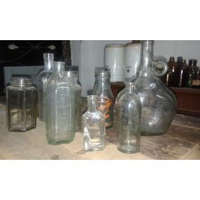 Buen Lote De Frascos Y Botella Antiguas