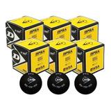 6 Bolas Squash Dunlop 2 Pontos Amarelo Sport Pro