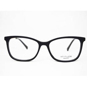 Armação Para Óculos Atitude At6177 Feminino Preto. R  170 7edbc847e7