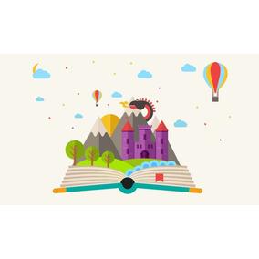 Painel De Festa Livro Conto De Fadas 300x170 Cm