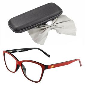 Armacao Oculos Feminino Grau - Óculos Vermelho no Mercado Livre Brasil 7bcc986098