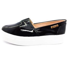 c3e05c3b8a Tênis Flatform Quality Shoes Feminino 003 Verniz Preto