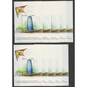 Grc184 - 10 X Bloco Brasil 1979 1992 - 50 Blocos Novos Goma