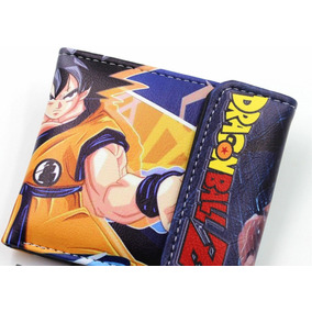 Cartera De Piel Sintética Kanji Son Goku Anime Dragon Ball Z