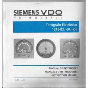 Manual Proprietário Tacógrafo Siemes Vdo 1318-02, 04, 06