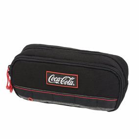 Estojo Coca Cola Duplo Preto Original