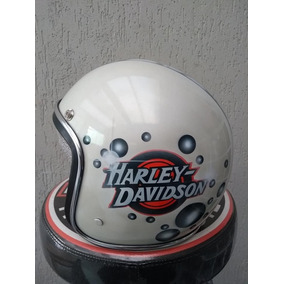 Capacete Old School Harley Custom Vinta Bobber Café Racer 58 efeb4eeff73
