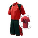 Jogo De Camisa Calção, Fardamento Uniforme Futebol Kit 4 Pcs