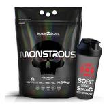 Monstrous Gainer 4,55 Kg + Shaker - Black Skull
