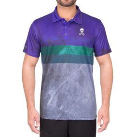 Camisa Polo Bones Original Stripes Azul Claro Verde E Roxo c481d06578b4c