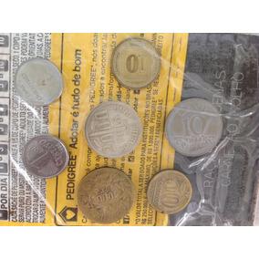 L-1972 - Lindo Kit Com 7 Moedas Nacionais, Prata, Cobre, Aço