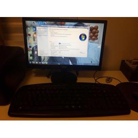 Desktop Computador Processador Amd Com Monitor E Teclado