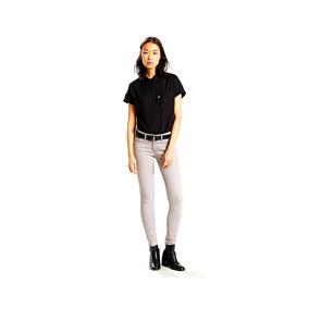 Pantalon Levis 711 Skinny Gris Claro Jeans Dama
