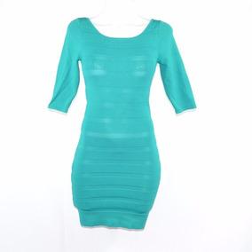 Mango Suit Vestido Verde Aqua Pegado S Msrp $700