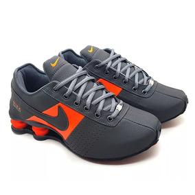 08fa586ac53 Nike Shox Classic Em Couro Azul Bebe Masculino - Calçados
