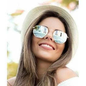 a7ba363b98b4f Rayban Hexagonal Rb3548 Prata Espelhado Feminino Promoção
