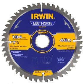 Disco Sierra Circular 7 1/4 48d Multicorte Irwin 363017la