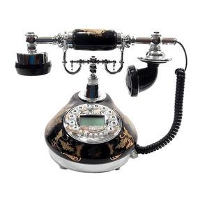 Retro Telefone De Mesa Flor Vintage Antigo Decoração E