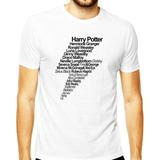 Camisa Harry Potter Draco Malfoy Hermione Ron Luna Masculina