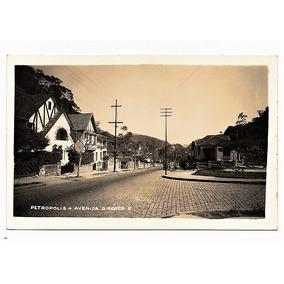Cartao Postal Av. Dom Pedro I - Petropolis - Rj Anos 50