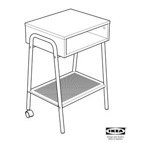 Mueble Minimalista Mesa De Noche Ikea Setskog
