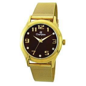 Relógio Champion Analógico Feminino Cn29007r Dourado
