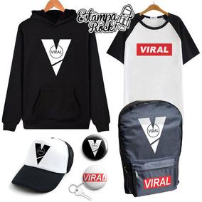 Combo Viral - Buzo Canguro + Remera + Mochila + Gorra + Pin