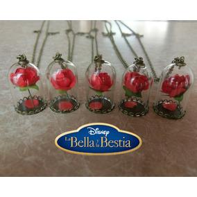 Lote 5 Collares Rosa De La Bella Y La Bestia ¡envío Gratis!