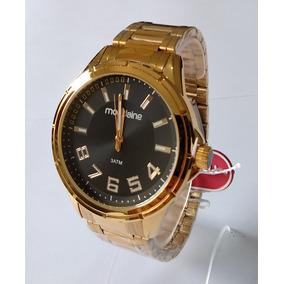 Relógio Masculino Dourado Mondaine Original Ref 83451gpmv3.