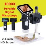 Microscopio Digital Con Camara 1-1000x Con Base Y Portatil