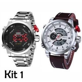 2eb5d347653 Relógio Masculino Pulso Ohsen Led Xmas Digital Anal Branco por Olist · Kit  Relógio  Ohsen Army + Relógio North Sport