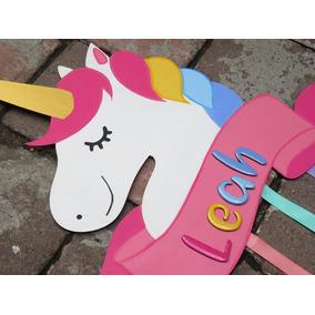 Lindo Porta Moños Figura De Unicornio
