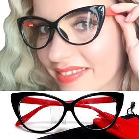 Cat Eye - Armação Óculos Feminino Big Gatinho Retrô Vintage 6cde1cd8fe