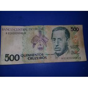 Cédula 500 Cruzeiros Rara