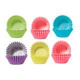 Set 100 Capsula Mini Cupcake Molde Queques Fiestaclub