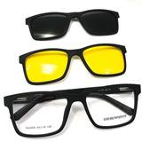 fa73247a38f08 Oculos Sol Armação Grau 2 Clip On Uv400 Polarizado 20 88