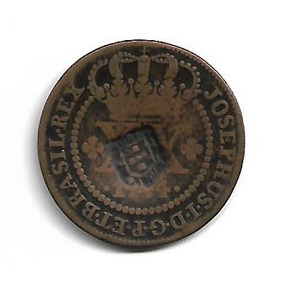 Moeda Brasil 1774 Xx Réis Com Carimbo Escudete