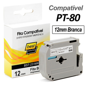 Fita Compatível M-k231 Branca 12mm Rotulador Brother Pt-80