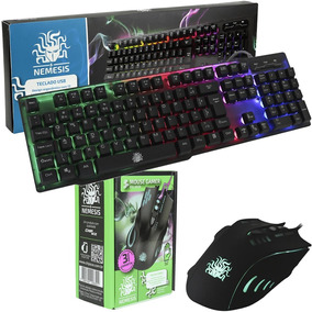 Teclado Gamer Nemesis Anti-ghosting + Mouse Palm 2400dpi