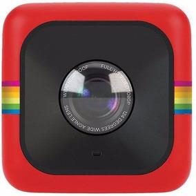 Câmera De Ação Cube Da Polaroid - Polcubelsr - Vermelha